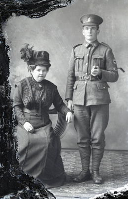World War One soldier and woman; 520