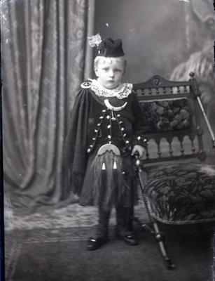 Boy in highland costume; 41