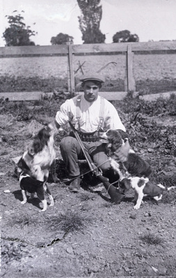 Hunter with dogs; 188