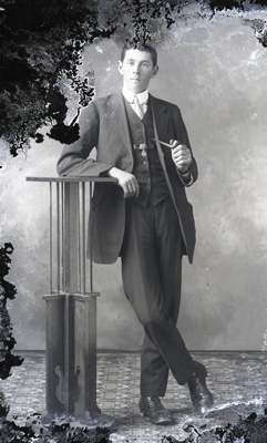 Male with pipe; 481
