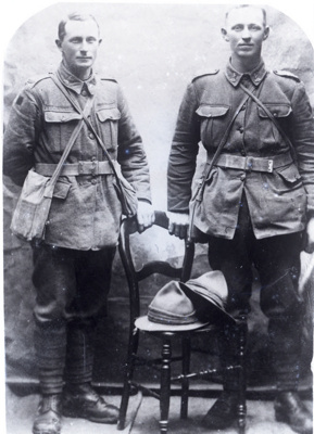 Two soldiers; 180