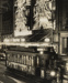 [Tram no. 181 in front of Milne & Choyce's Christmas decorated building on Queen Street]; Unknown Photographer; 1956; PHO-2017-5.12