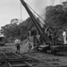 Photograph of BTC locomotive and winch crane; Les Downey; 1972-1976; 14-1794