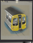 [Auckland Rapid Transit: Concept for exterior end of passenger carriage 127]; Gifford Jackson (b. 1920, d. 2013); [1974]; ART-2017-8.5