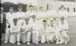 [Auckland tramway cricket team at Laughlan Cup]; Unknown Photographer; Feb 1948; 14-0843