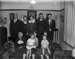 Family portrait in living room; Unidentified; 1930s; 13-2121