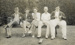 [Auckland tramway cricket players and supporters at Laughlan Cup]; Unknown Photographer; Feb 1948; 14-0840