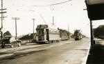 Trams  Auckland,  Dominion Rd ( near Valley Rd) view north; Graham C. Stewart (b.1932); 14-0109