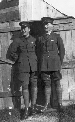 New Zealand Flying School two trainees at  Walsh Brothers flying school at Kohimarama; Unidentified; 10-0917