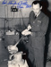 Wing Commander R.R.S. Tuck casting a victory bell at a Kent foundry in September 1945. Metal used for the bell came from the wreckage of German aircraft brought down over Britain.; Unidentified; ...