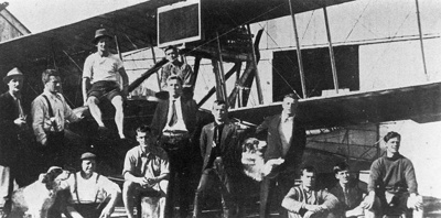 New Zealand Flying School trainees at Kohimarama 1915.; Unidentified; 10-0908