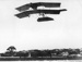 New Zealand Flying School, Walsh Brothers aircraft in flight over Avondale Race course 1913; Unidentified; 1913; 10-0970