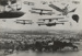New Zealand Flying School : Composite of aircraft over Judges Bay; 1918; 15-2565