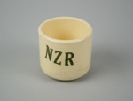 Cup [New Zealand Railways]; Crown Lynn Potteries (New Zealand, estab. 1948, closed 1989); New Zealand Railways; 1939-1943; 2016.86