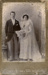 Portrait photograph of man and woman. Woman wearing wedding dress; Unidentified; 13-1047