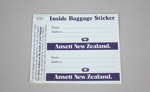 Baggage Tag [Ansett New Zealand]; Ansett Airlines Limited (Australia, estab. 1936, closed 2002); 2013.343