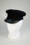 Uniform Hat [Engine Driver's/Fireman]; New Zealand Rail, Kaiapoi Woollen Manufacturing Company Limited (New Zealand, estab. 1878, closed 1978); 2014.462