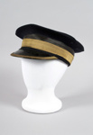 Uniform Hat [Station master's cap]; New Zealand Rail, Kaiapoi Woollen Manufacturing Company Limited (New Zealand, estab. 1878, closed 1978); 2014.340