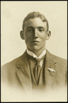 Black and white studio portrait of Lloyd Kendall Wilson; Circa 1918; 04/071/019