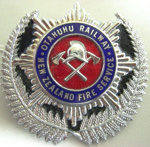 Badge [Otahuhu Railway New Zealand Fire Service]; F667.12.2002