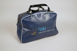 Airline Bag [Teal]; Tasman Empire Airways Limited (New Zealand, estab. 1940, closed 1965); 2013.333