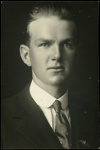 Black and white studio portrait of Alex Campbell Craig; Circa 1918; 04/071/014
