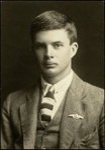 Black and white studio portrait of Horace Douglas Riddell; Circa 1918; 04/071/008
