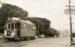 Trams  Auckland,  Dominion Rd near View Rd , view south; Graham C. Stewart (b.1932); 14-0123