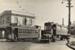[Active tram no. 218 and retired tram no. 224 on the corner of Manukau Road and Trafalgar Street]; Graham C. Stewart (b.1932); 1956; PHO-2017-5.31