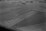 Aerial photograph of Rukuhia Aerodrome taken 24 June 1950 showing Royal New Zealand Air Force surplus aircraft; Les Downey; 24 Jun 1950; 05/026/018