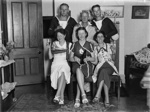 Celebration in living room; Unidentified; 1930s; 13-2050