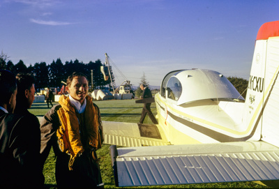 """Cliff Tait round-the-world flight in Airtourer ZK-CXU """"Miss Jacy"""", 1969; 12 May 1969; 12/003/008"""
