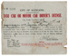 City of Auckland taxi cab or motor car driver's license : Jessie Thorrington; Auckland City Council (closed 2010); 1918; 96/005/004