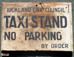 Sign [Taxi Stand, Auckland City Council]; 2003.765