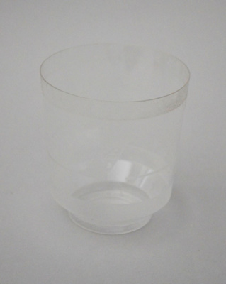 Drinking Glass [Air New Zealand]; Air New Zealand Limited (New Zealand, estab. 1965), TransWorld Plastics Limited (estab. 1960, closed 1990); 2016.4.81