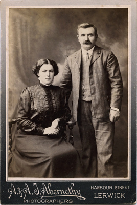 Photograph of man and woman; A. & A. J. Abernethy; 13-1040