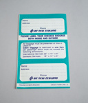 Baggage Label [Air New Zealand]; Air New Zealand Limited (New Zealand, estab. 1965); 2013.335