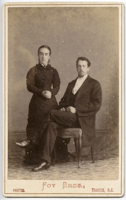 Photograph of a man and woman; Unidentified; 13-1196