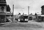 Tram no. 49 at Kingsland Terminus, April 1905; Unidentified; Apr 1905; 06-1143