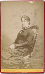 Portrait photograph of  woman; P. Schourup; 13-1051