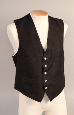 Uniform Waistcoat [NZ Railways]; New Zealand Rail; 1930s-1940s; 1999.13.1