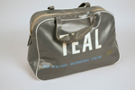 Airline Bag [Teal]; Tasman Empire Airways Limited (New Zealand, estab. 1940, closed 1965); 2013.332