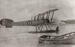 Black and white display print of Walsh Brothers Flying School Avro 504L (H2990) on the water at Mission Bay; 1920-1924; 04/077/091