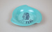 Ashtray [Teal]; Tasman Empire Airways Limited (New Zealand, estab. 1940, closed 1965); 2012.696