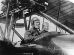 New Zealand Flying School, Bert Going of Whangarei was an instructor at Mission Bay with Walsh Brothers . This is in one of their machines with his youngest son around 1918; Unidentified; 1918?; ...