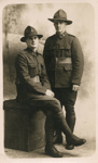 Portrait  postcard of soldiers of New Zealand Rifle Brigade; Unidentified; 20th Century?; 13-1039