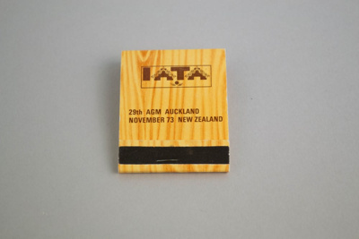 Matchbook [IATA 29th AGM Auckland November 1973]; International Air Transport Association (Cuba, estab. 1945), Allenco Match; 1973; 2003.144.1