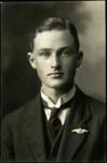 Black and white studio portrait of Gordon Alfred Eliott; Circa 1918; 04/071/005