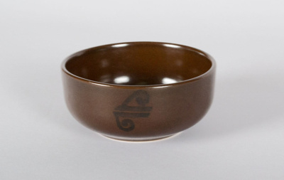 Bowl [Air New Zealand]; Air New Zealand Limited (New Zealand, estab. 1940), Crown Lynn Potteries (New Zealand, estab. 1948, closed 1989); 2014.94.1