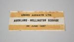 Commemorative Label [Union Airways Limited]; Union Airways of New Zealand Limited (New Zealand, estab. 1936, closed 1947); 1937; 2013.439
